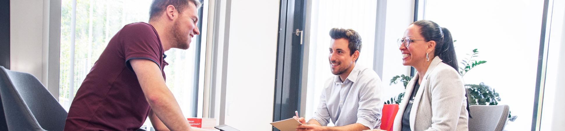 Gesprächssituation im Büro