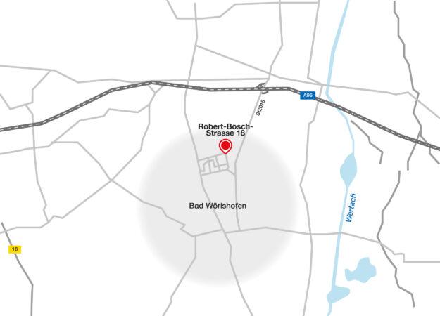 Landkarte Standort Bad Wörishofen