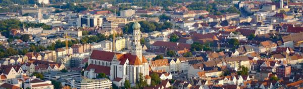 Region Augsburg Stadtansicht